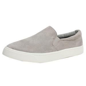 Shoes - Light Grey Elastic White Sole Slip On Loafer